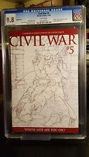 Civil War #5 (2006, Marvel) CGC 9.8 NM/MT Michael Turner 1:75 Sketch Variant