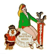HOOTERS 2008 MASTERS WEEK AUGUSTA, GA SEXY GIRL ON GOLF BALL HOOTIE LAPEL PIN