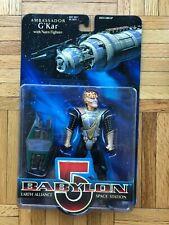 Ambassador G'Kar (Black Suit) Babylon 5 Action Figure with Narn Fighter - Mint