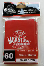 Yugioh Monster Protectors RED LOGO Glossy Non-Textured Deck Protectors/Sleeves