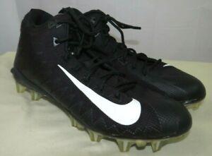 Nike Alpha Menace Football Cleats Shoes Black/White Size 9 US