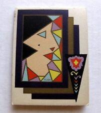 Vintage Art Deco Bridge Tally Score Pad w/ Deco Womans Profile Picture