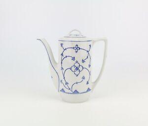 Jäger Eisenberg Kaffeekanne Indischblau Strohblume Teekanne vintage Kanne