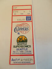 Los Angeles Clippers Seattle Supersonics 2-27-90 Ticket Stub SK3