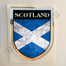 Scotland Sticker Resin Domed Stickers Flag Grunge 3D Adhesive Decal Gel Car