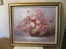 COLLECTORS CORNOR INC ORIGINAL FRAME FLORAL OIL PAINTING SIGNED BY FOLDBERG