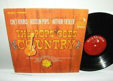Chet Atkins / Arthur Fiedler - Pops Goes Country LP Near Mint Vinyl 1st Press DG