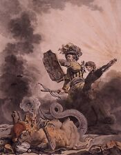 La Muse Romantique by Schmit 1830 Occult Art 6x5 Inch Print