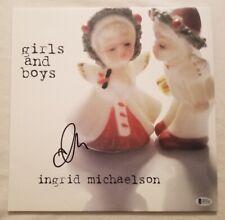 Ingrid Michaelson Autographed Girls And Boys Blue Vinyl LP Beckett COA