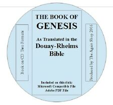 """Book on CD """"The Book of Genesis"""" as translated in the Douay-Rheims Bible"""