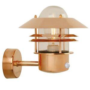 Wall Light Blokhus Nordlux Sensor Wall Copper Outdoor Wall Light Motion Sensor