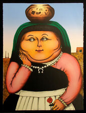 "David Bradley ""Homage to Botero"" Hand Signed Lithograph Western Art, MAKE OFFER!"