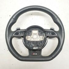 2013-2016 AUDI RS5 PERFORATED LEATHER STEERING WHEEL w/ PADDLE SHIFTERS OEM