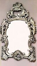 New Silver Foil Finish Carved Big Size Wall Mirror Frame 60 x 90 H In Cm