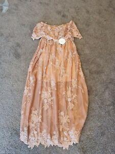 BNWT MARLO Girls AMARANTH LACE MAXI DRESS Size 12-13