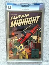 Captain Midnight #47 CGC 4.5  Aug 1947 white pages and FREE full color photocopy