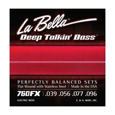 La bella 760fx profonde parlant Bass Guitar Strings-x / lumière 39 - 96 en acier inoxydable