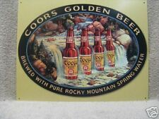 Coors Waterfall Vintage Look Bar Beer Rocky Mountain Tin Metal Sign NEW