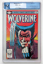 WOLVERINE # 1 LIMITED SERIES 9.2 PGX GRADED NEAR MINT/MINT SEPTEMBER 1982