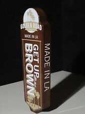 Golden Road Get Up Brown Tap Handle Beer Brewed Man Cave Bar Pub LA CA Hollywood