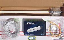 WiFi 8dBi Fiberglass Antenna+ ALFA PoE TUBE 2H Outdoor Booster GET FREE INTERNET
