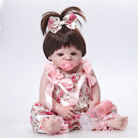 22'' Reborn Baby Doll Full Body Silicone Vinyl Newborn Girl Doll with Clothes