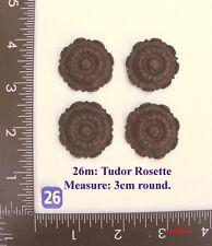 """TITLE: 26M """"4 Circular rosettes"""" clock case / furniture DIY"""