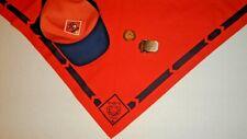 Bsa Boy Scout Cub Scout Orange Tiger Hat, Neckerchief, Slide and belt buckle