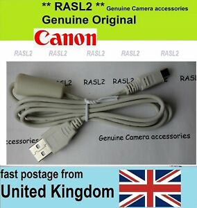 Genuine Canon USB Data Cable for Ixus / PowerShot Digital camera to PC Laptop