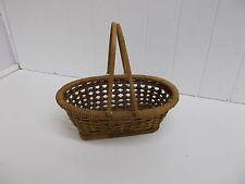 KW-92 OVAL WITH HANDLES BASKET CRAFT DECOR WICKER WOVEN