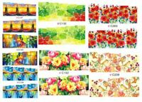 15 sets Nail art water transfer decal sticker wrap C series Fall Autumn C06