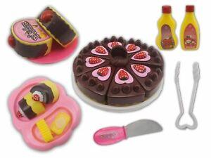 Vinsani 22 PC House Dessert Pretend Play Kids Childrens  Cakes Food Play Set