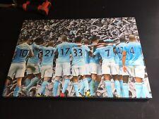 "Manchester City #mcfc 17/18 Squad Canvas 26""x18"" £20"
