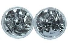 "For Chevy & Ford Nova 55 56 57 7"" Clear Black Dot Tri Bar Headlights H4"