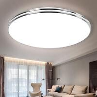 220V LED Ceiling Lamp Panel Light 12/18/24/36/72W Bulb Living Room Flush Mount
