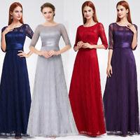 Ever-Pretty US Long Lace Bridesmaid Dress Formal Christmas Holiday Dress 08878