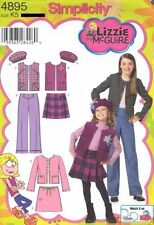 Pattern Simplicity Sewing Girl Lizzie McGuire Vest Top Jacket Sz 3-6 NEW
