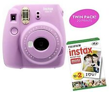 Fujifilm Instax Mini 9  Smokey Purple Instant Camera and Instant Film twin pack