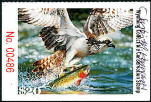 WYOMING #38 2021 STATE CONSERVATION / DUCK STAMP ARTIST SIGNED by Justin Hayward