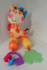 Fisher Price Discover n Grow Chime Giraffe Plush Toy- Link Rattle Bell Chime