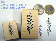 Q13 Miniature twigs Rubber Stamps