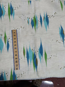 """FABRIC STRETCHED OUT DIMANONDS MID CENTURY LOOK 1 3/4 YARDS X 45"""""""