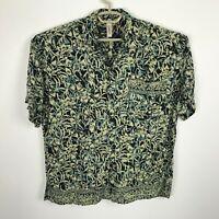 Serendipity Maui Hawaiian Shirt Mens Size L Rayon Floral Multicolor Short Sleeve