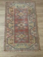 "Turkish Oushak Wool Area Rug, Vintage Hand Knotted, 4'2""x 2'8"", FREE SHIPPING!"