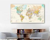 World Map Wall Stickers Vinyl Prints Home Business Office Decor Art Mural Gift