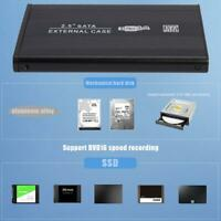 SATA Externes HDD 2.5 Zoll Festplattengehäuse Gehäuse Caddy USB 3.0 Schwarz