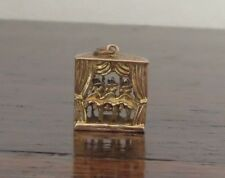 CAN CAN GIRLS DANCERS 9CT GOLD CHARM  - VINTAGE FOR BRACELET FOB PENDANT MOVES
