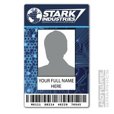 PERSONALISED Printed Novelty ID- Tony Stark IRON MAN Stark Industries Pass Card