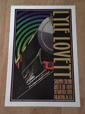 LYLE LOVETT SHAWN COLVIN CONCERT  POSTER Mann Center Philadelphia 2001