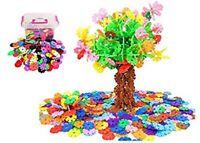 Interlocking Discs Flakes Creative Toys Educational Puzzles for Kids (300 pcs)